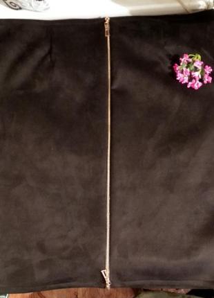 Замшева юбка