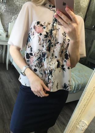 Блузка в цветы