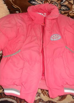 Супер теплая зимняя куртка для девочки