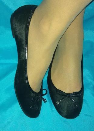 Кожаные туфли балетки jones р 37,5-38 мех пони