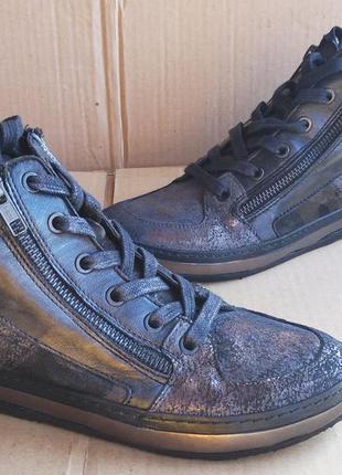 Новые полностью кожаные стильные итальянские сникерсы кеды ботиночки khrio