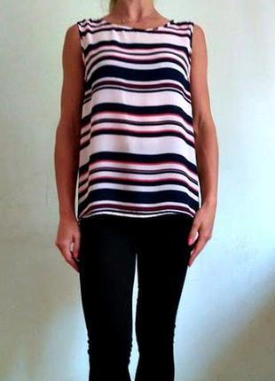 Легкая базовая блуза в полоску 12-14