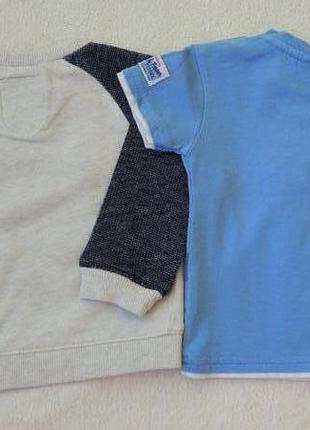 Big sale! комплект набор футболка, кофта свитшот на 6-9 мес2 фото