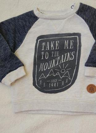 Big sale! комплект набор футболка, кофта свитшот на 6-9 мес3 фото