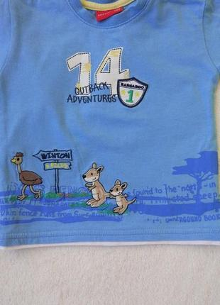 Big sale! комплект набор футболка, кофта свитшот на 6-9 мес4 фото