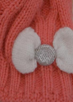 Шапка с двойной вязкой, деми, теплая зима
