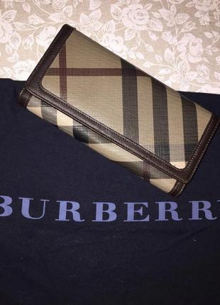 Кожаный кошелёк burberry (оригинал)