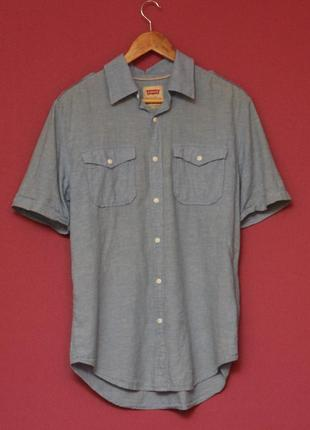 Levis рр m linen shirt рубашка из льна и хлопка