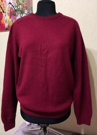 Шерстяной свитер от m&s, шерсть 100% (ньюанс)
