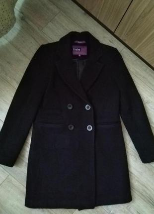 Продам шерстяное пальто vivalon темно синее