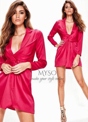 Платье цвета фуксии для невысокой девушки missguided