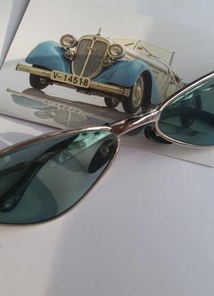 Очки кощки, узкие солцкзащитные очки, винтажные ретро мода 90х женские треугольные очки3 фото