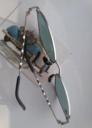 Очки кощки, узкие солцкзащитные очки, винтажные ретро мода 90х женские треугольные очки4 фото