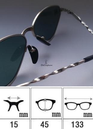 Очки кощки, узкие солцкзащитные очки, винтажные ретро мода 90х женские треугольные очки5 фото