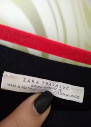 Свитшот с необработанным кроем с оборками zara6 фото