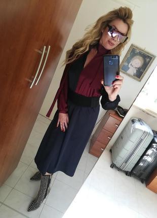 Классическое  стильное платье италия
