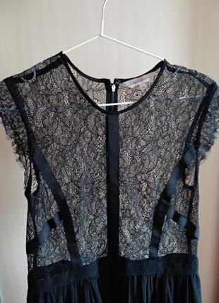 Шикарное полупрозрачное платье кружево