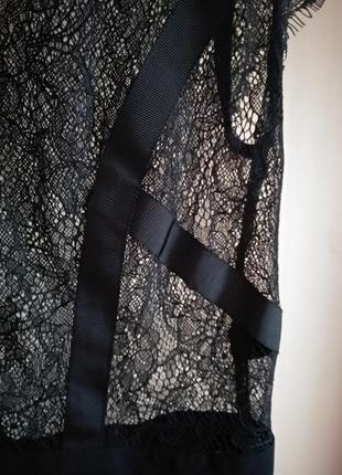 Шикарное полупрозрачное платье кружево3 фото