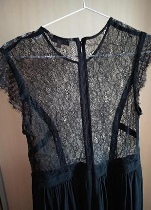 Шикарное полупрозрачное платье кружево5 фото