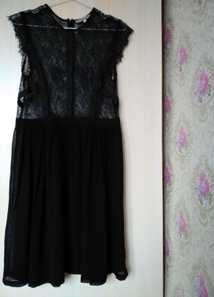Шикарное полупрозрачное платье кружево6 фото