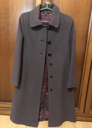 Демисезонное пальто/италия/шерсть + кашемир