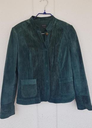 Замшевая куртка кожанная натуральная перфорация вставки