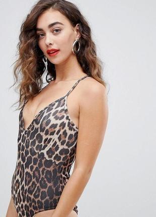 Боди леопардовый принт размер m