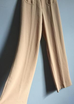 Брюки палаццо бежевые ( слегка персиковые ) vero moda широкие2 фото