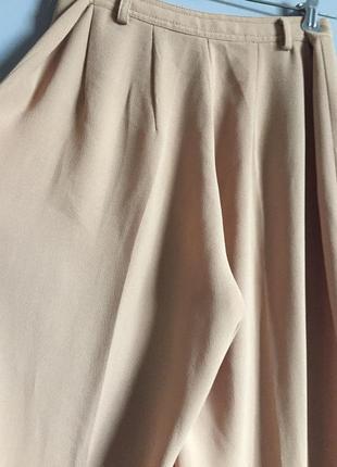Брюки палаццо бежевые ( слегка персиковые ) vero moda широкие3 фото