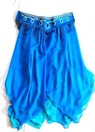 Костюм/юбка для восточных танцев. синий бирюза