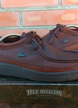 Lacoste moc boots ботинки кожаные оригинал (42) сост.идеал