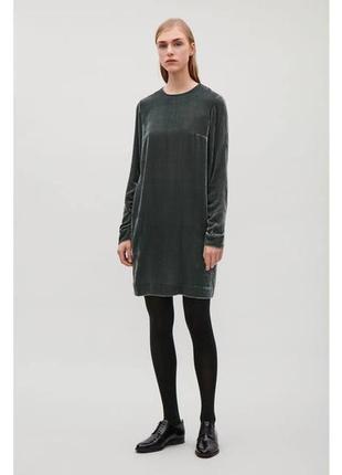 Бархатное вельветовое платье cos 455402