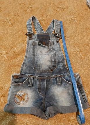 Комбинезон, шорты джинсовые