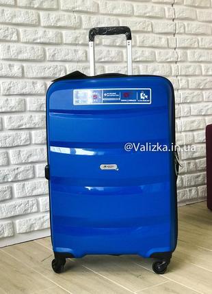 Airtex франция! премиум сегмент. пластиковый чемодан из полипропилена средний синий