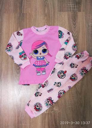 Пижама для девочек с куклой лол 2-7 лет