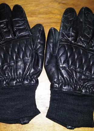 Мотоперчатки, кожаные