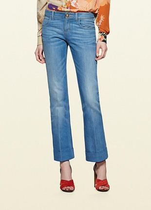 Gucci skinny flare jeans джинсы