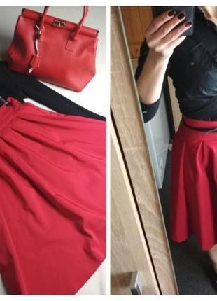 Очень красивая стильная юбка миди, красная, orsay, p. 38/40
