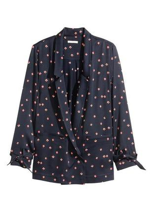 Пиджак блуза накидка желетка в цветочный принт h&m