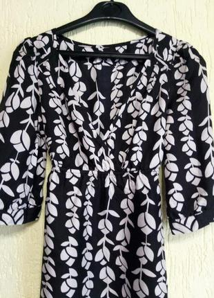 Шелковое -100% шелк -натуральное платье от warehouse с принтом. оригинал2 фото