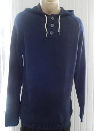 Мужской свитер-реглан livergy с капюшоном