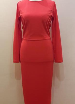 Скидка!!! шикарное красное платье карандаш