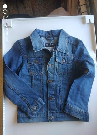 Джинсовый пиджак на мальчика 6-7 лет 122 см
