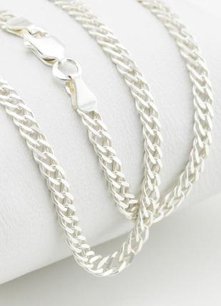 """Серебряная цепочка """"ромбик"""", ширина 3 мм, вес 7.55 г, длина 50 см"""