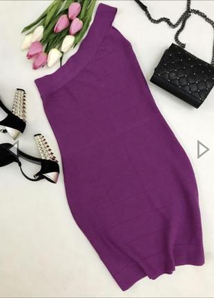 Платье резинка с ассиметричным верхом.