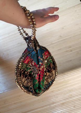 Индийская сумочка клатч с вышивкой1