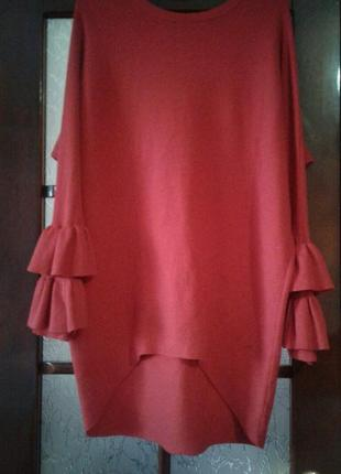 Мягкий свитер платье вискоза р 48-50 от qed london