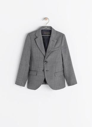 Стильный пиджак zara для мальчика 9-10 лет