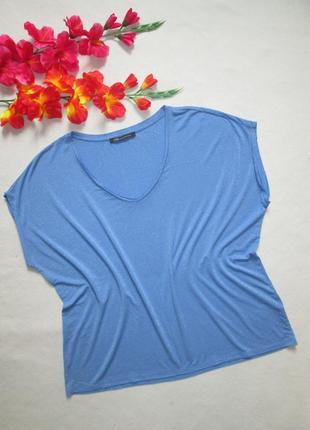 Суперовая стильная футболка летучая мышь в полоску с люрексом вискоза m&s