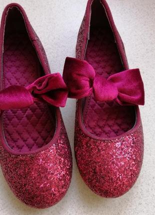 Туфли балетки блестящие2